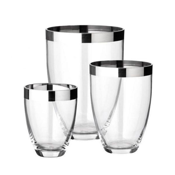 CHARLOTTE Vase Platinglas