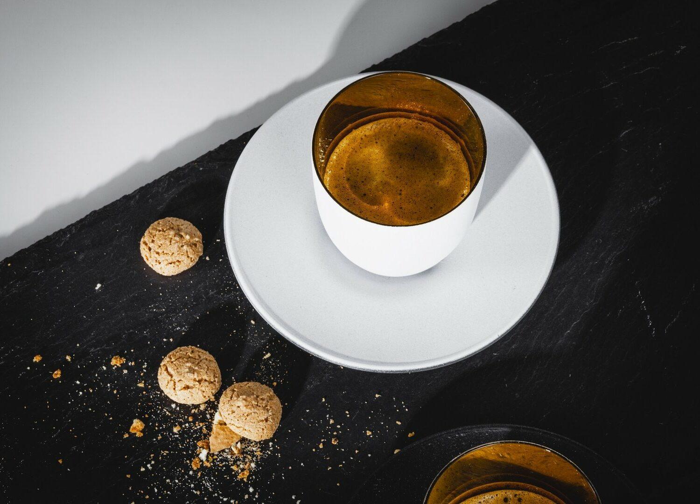 COSMO WEISS Espresso Kristallglas in Geschenkröhre