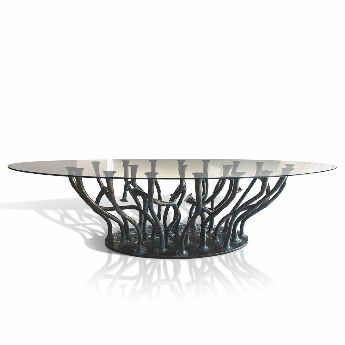 Allana Dining Table Glass Dessaive Selected