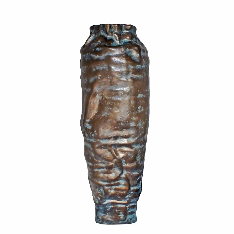 ARGUS skulpturale Vase Bronzefarbe