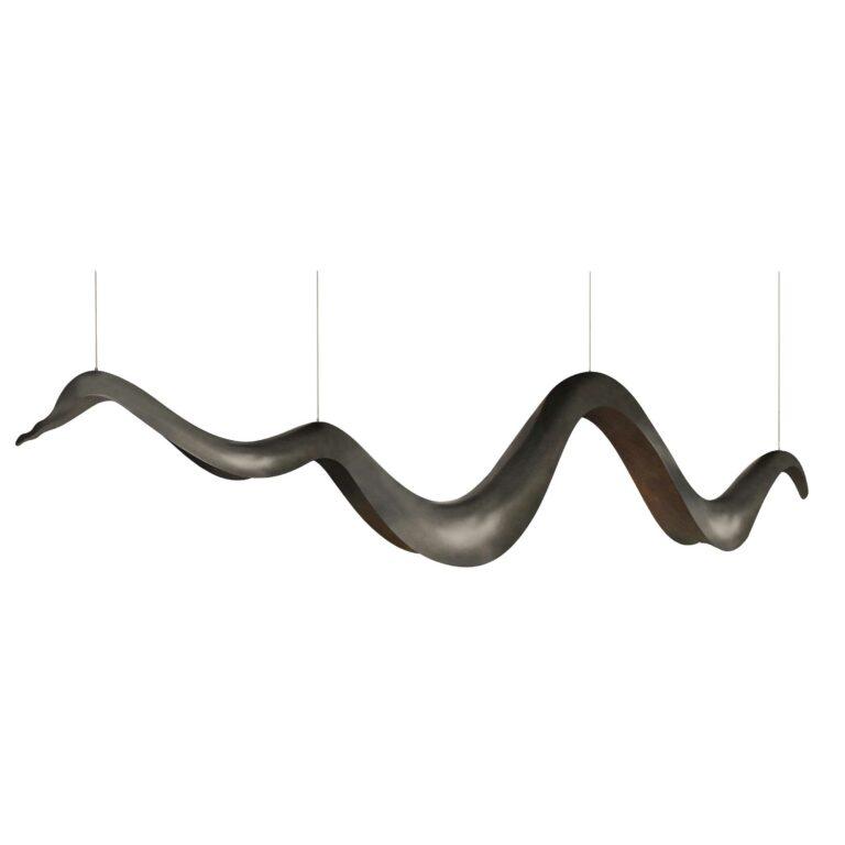 AURA suspension lamp brass color