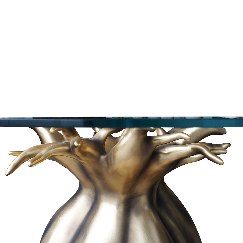 BAOBAB Esstisch Goldblatt