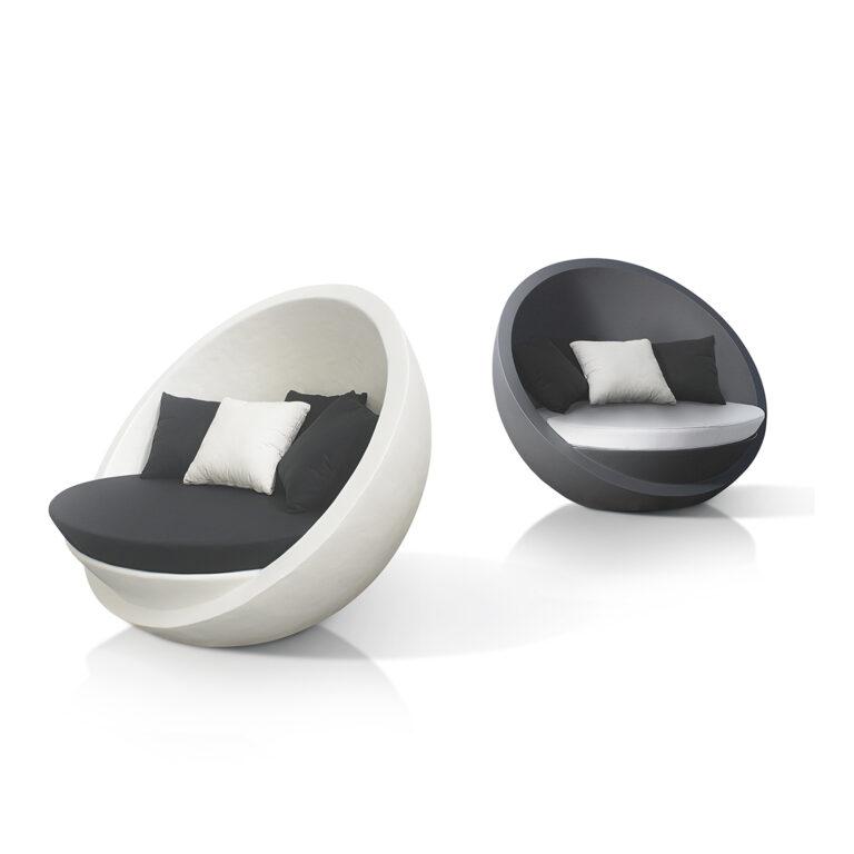 BOLA Couch weiß matt