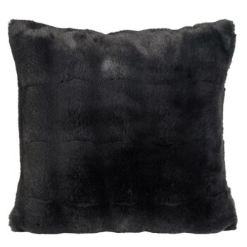 COLLARBEAR Decke Faux Fur schwarz