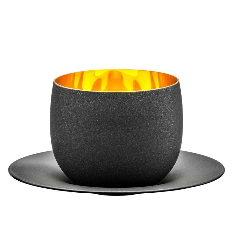 COSMO GOLD Cappuccinoglas mit Untertasse