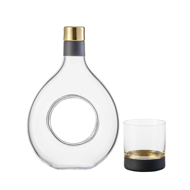 COSMO Gold 2 Whisky Becher in Geschenkröhre