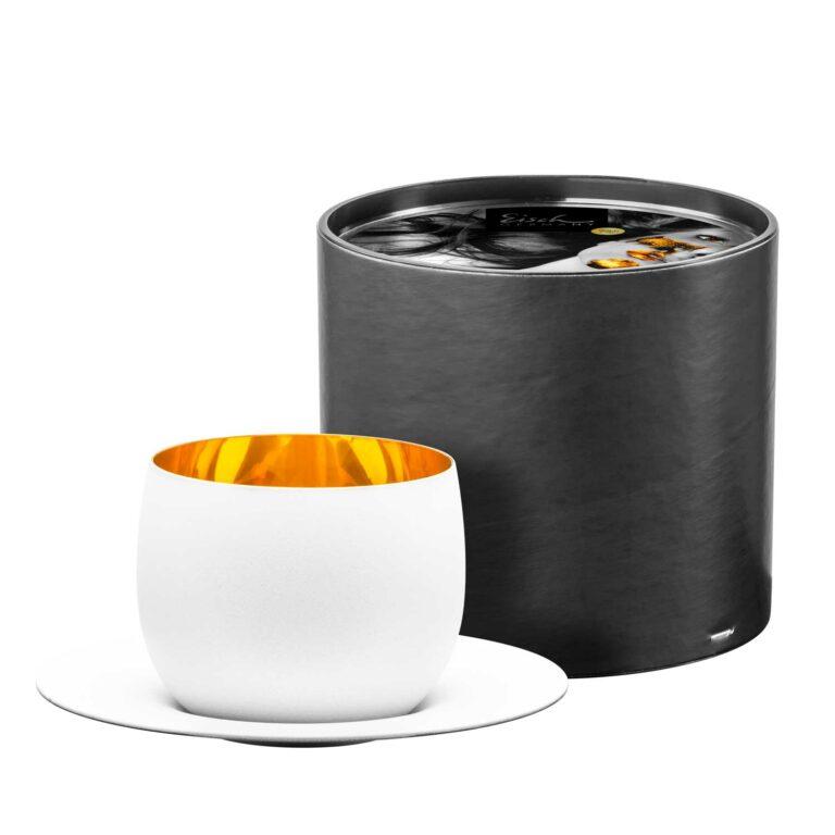 COSMO PUR WEISS Cappuccinoglas mit Untertasse