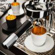 COSMO PUR WEISS Espresso Kristallglas in Geschenkröhre