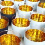 COSMO WEISS Becher Kristallglas