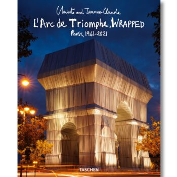 Christo and Jeanne-Claude: L' Arc de Triomphe verpackt bei Nacht (Poster)