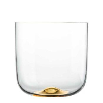 DOT Kristallglas Vase mit Echtgold H 25 cm