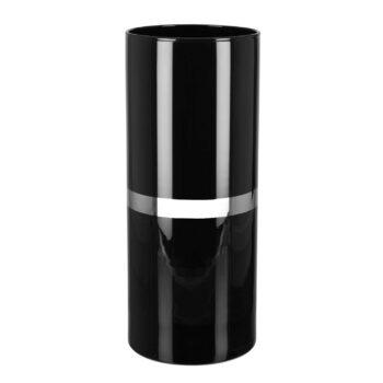 GALA vase | Black glass lantern with platinum
