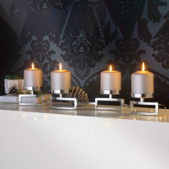 HOMMAGE Leuchter 4-flammig mit Glas
