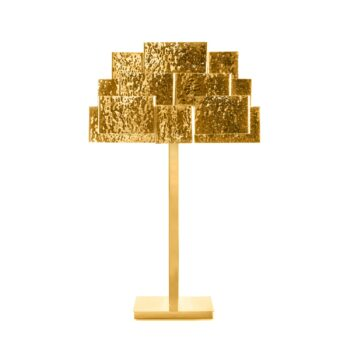 INSPIRING TREES table lamp hammered brass