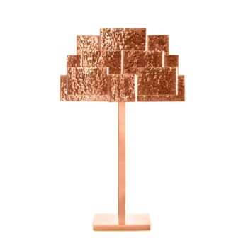 INSPIRING TREES table lamp hammered copper