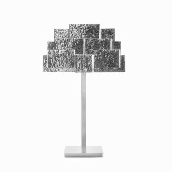 INSPIRING TREES table lamp hammered nickel