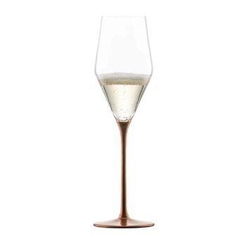 KAYA Kupfer Champagnerglas mit Moussierpunkt