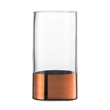 KAYA Kupfer Kristallglas Vase Höhe 23 cm