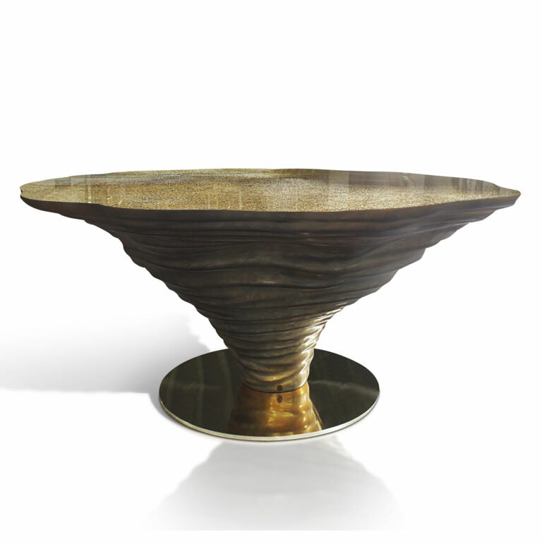 KENYA dining table gold leaf
