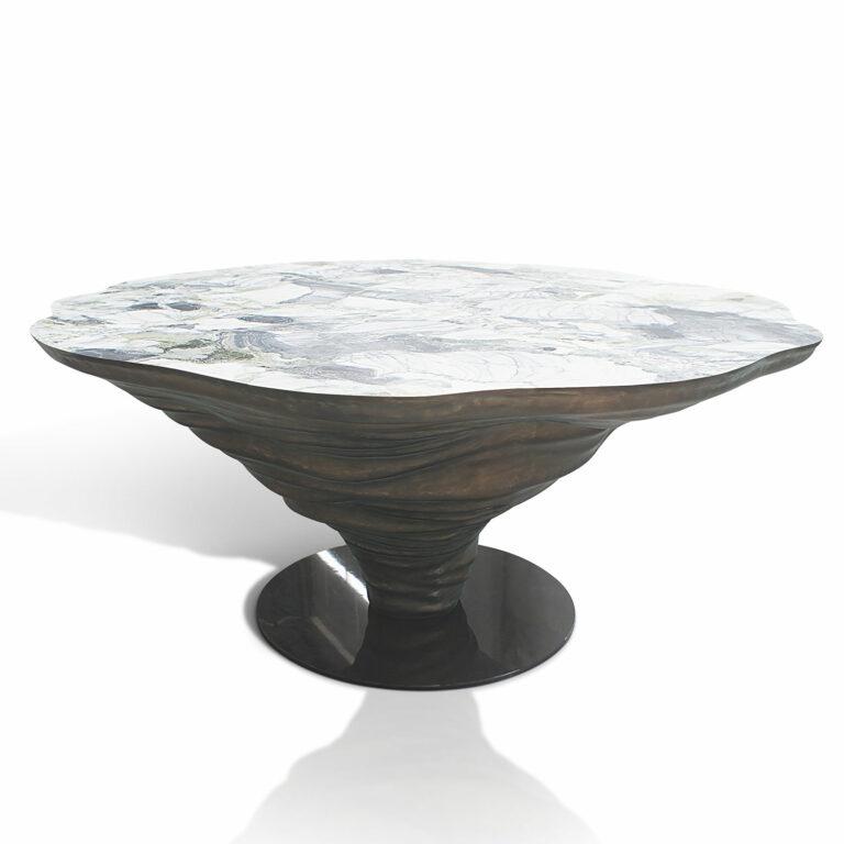KENYA dining table Ice Jade marble white