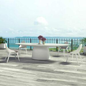 MAGNA dining table matt white