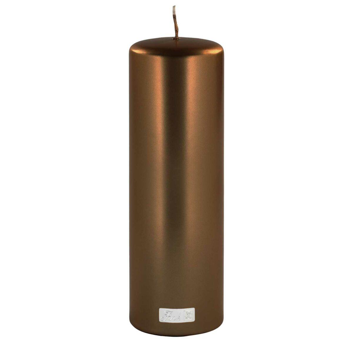 Altarkerzen metallic H 25 cm / D 8 cm (6 / 12 Stück)
