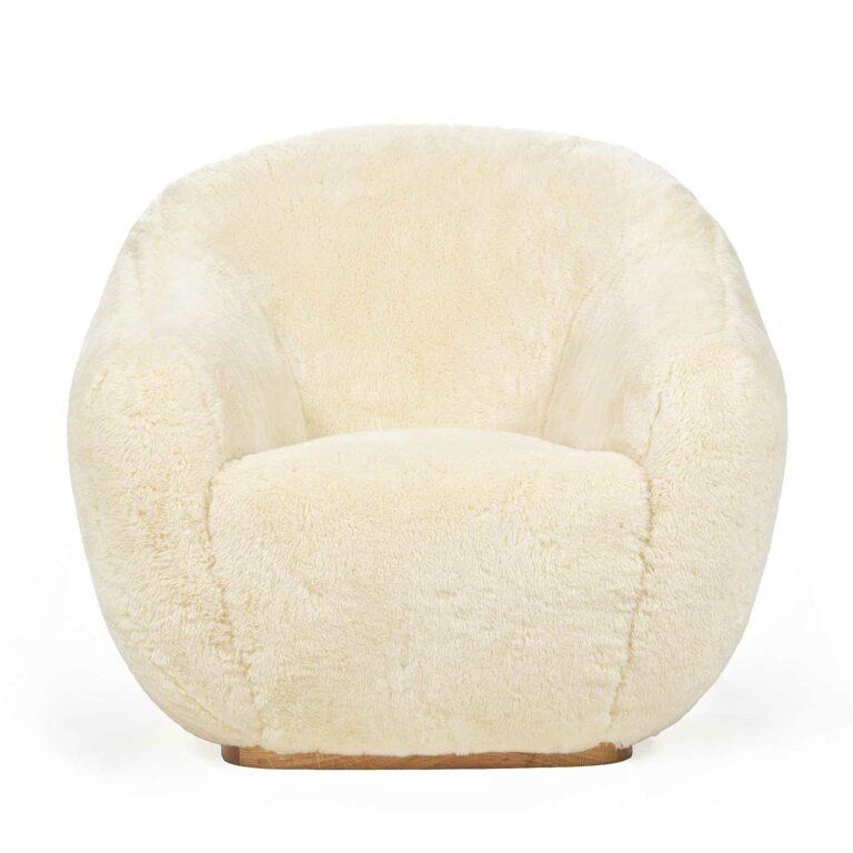 NIEMEYER II fur armchair