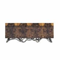 ORPHEU Sideboard Nussbaumwurzel / schwarz