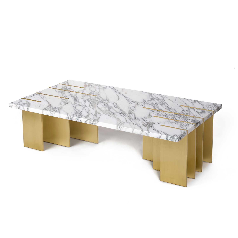 PIANIST Couchtisch Carrara Marmor