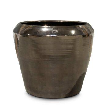 PRESTIGE ceramic planter platinum-black