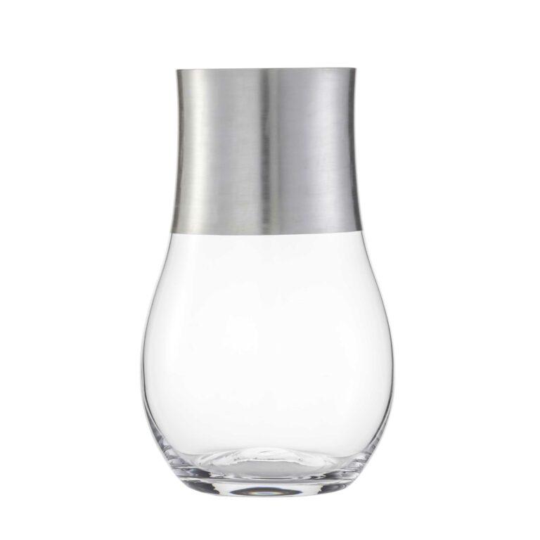 PURO Kristallglas Windlicht Echtsilber
