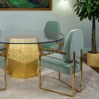 PERSPECTIVE Stuhl hellgrün