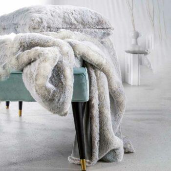 SILVERWOLF Decke faux fur