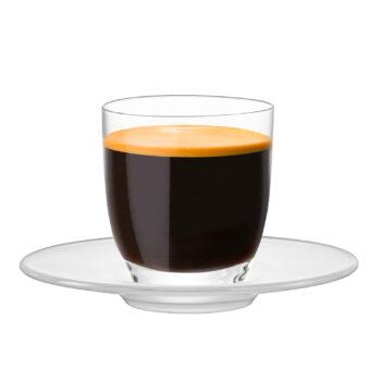 SUPERIOR ESPRESSO Glas mit satiniertem Teller