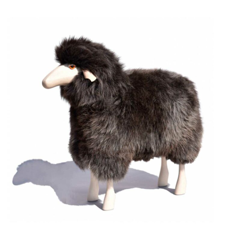Schaf in Lebensgröße grau-braunes Fell