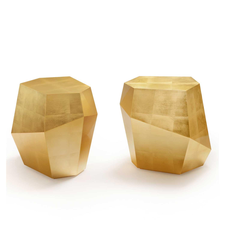 THREE ROCKS Beistelltisch Blattgold