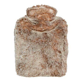 WÄRMFLASCHE faux fur Snow Leopard