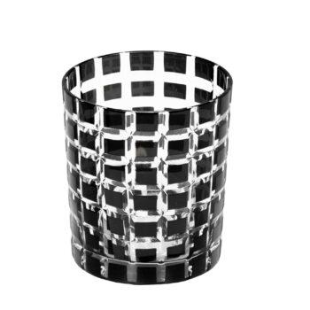 MARCO Kristallglas (Quadrate) schwarz 4er Set